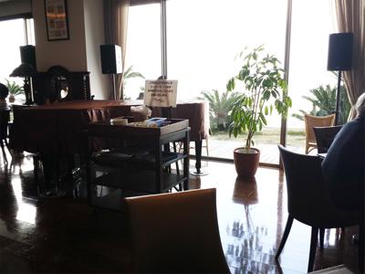 別府温泉おすすめの宿「潮騒の宿 晴海」カフェ