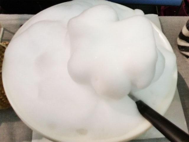 VCOマイルドソープの泡